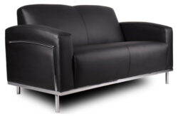 Boss Contemporary Leather Loveseat