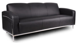 Boss Contemporary Leather 3 Seat Sofa