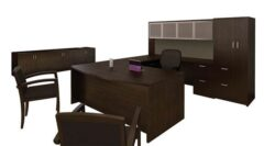 CHERRYMAN AMBER U Shape Executive Desk Suite