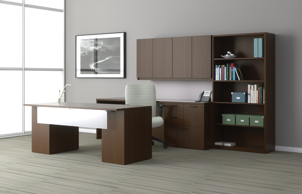 Indiana Furniture Gesso Executive Office Suite