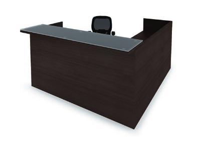 Cherryman Amber 6 X 6 Reception L Desk With Glass