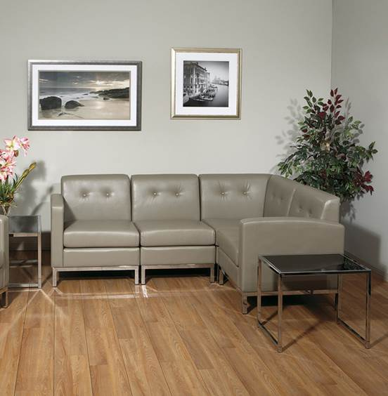 OFFICE STAR Bonded Leather Sectional Sofa