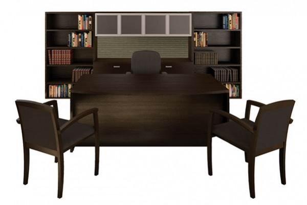 CHERRYMAN AMBER Executive Bow Front Desk