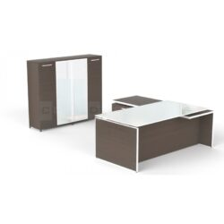 Potenza Series L-Shape Executive Desk from Corp Design