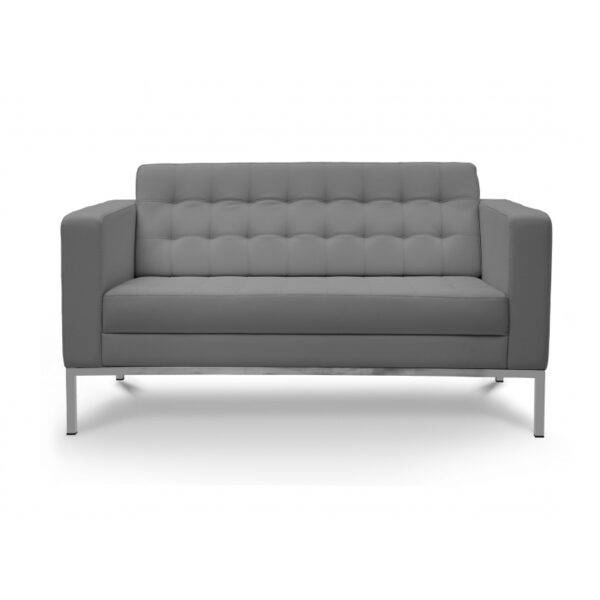 Piazza-Grey-Love-Seat-front-800x800