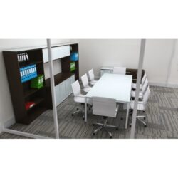 Sling Series Rectangular Glass 8ft Conference Table from Corp Design