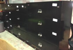 """Used Fireking 4 Drawer 42""""wide Fireproof Lateral Files"""