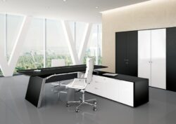 Adapta Design Metar Ebony L Shape Executive Suite