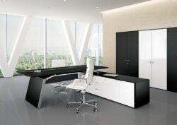 6 - Metar Ebony L Shape Executive Suite