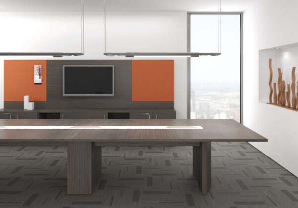 ARTOPEX Essentia Rectangular Conference Table with Center Inlay
