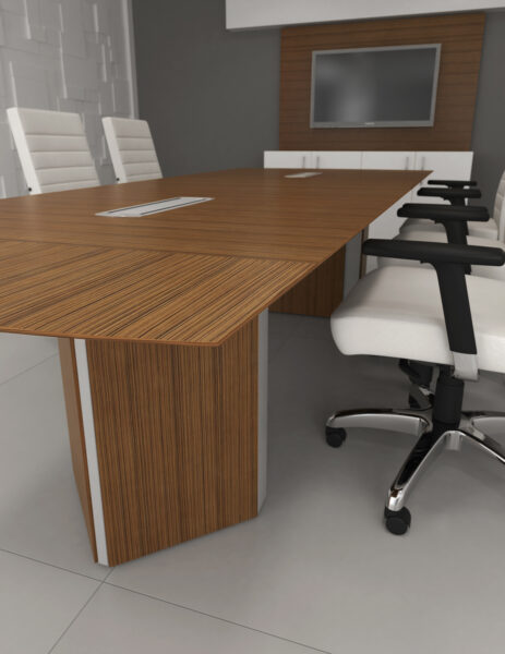 ARTOPEX Essentia Rectangular Conference Table with Triangular Architectural Bases