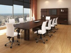 LOGIFLEX Millenium Series Rectangular Knife Edge Conference Table
