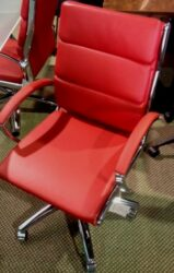 Segmented Executive Chair in Red -Floor Model