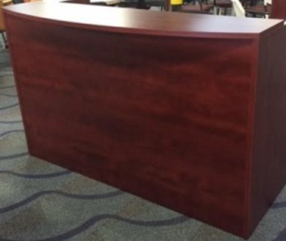 USED-OTG RECEPTION COUNTER 72″W X 36″D IN MAHOGANY