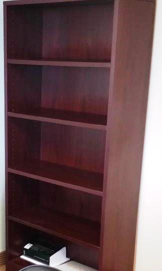 OTG-Pre-Owned 36″ x 72″ 5 Shelf Bookcases in Mahogany
