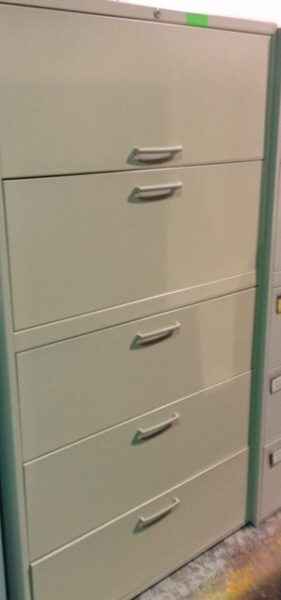 Teknion- 36″ 5 Drawer Lateral Files in Beige