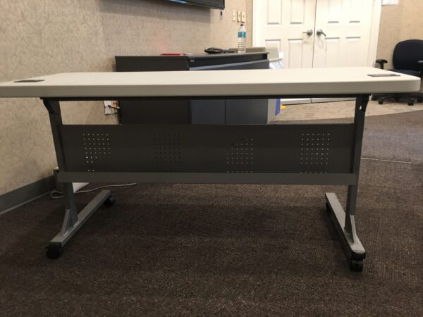 Used Flip Top Nesting Training Tables 24″ deep x 60″ wide