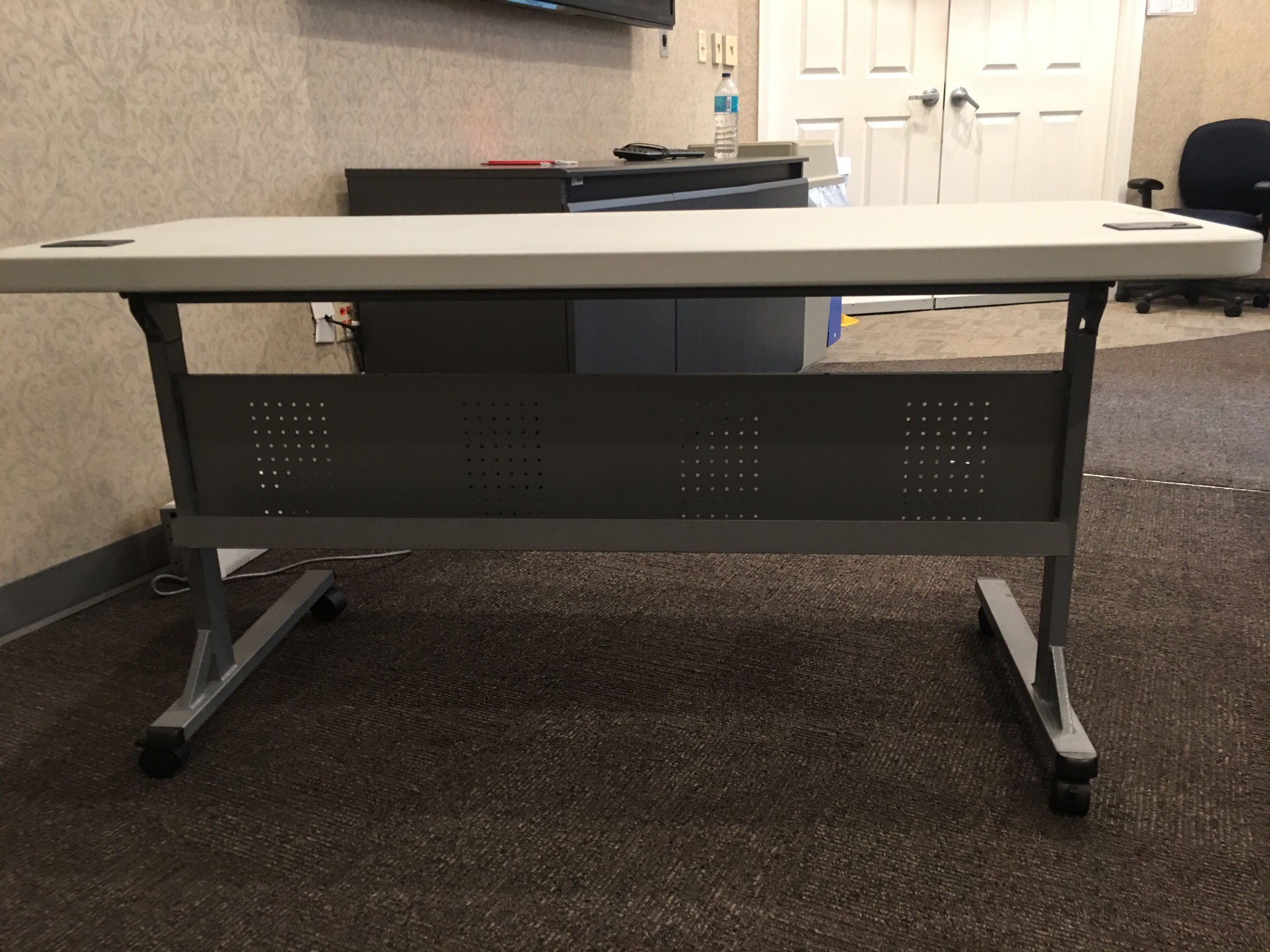 Used flip top nesting training tables quot deep wide
