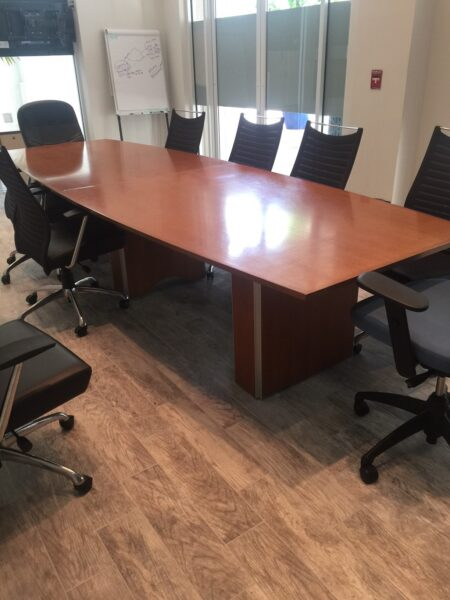 12′ Boat Shape Conference Table