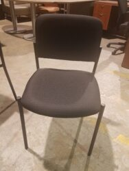 Pre-owned OTG armless guest chair in Black fabric